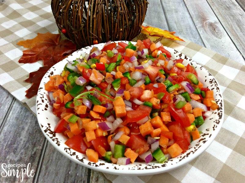 Sweet Potato Pico De Gallo