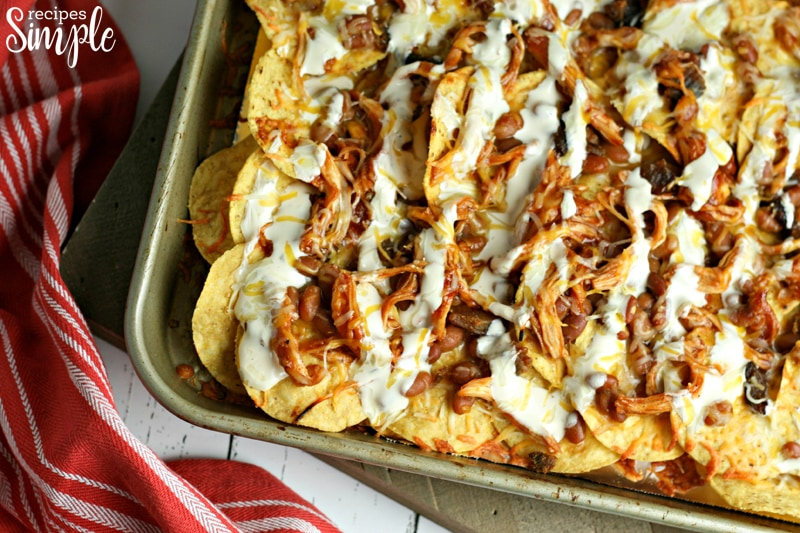 BBQ Chicken and Bacon Nachos