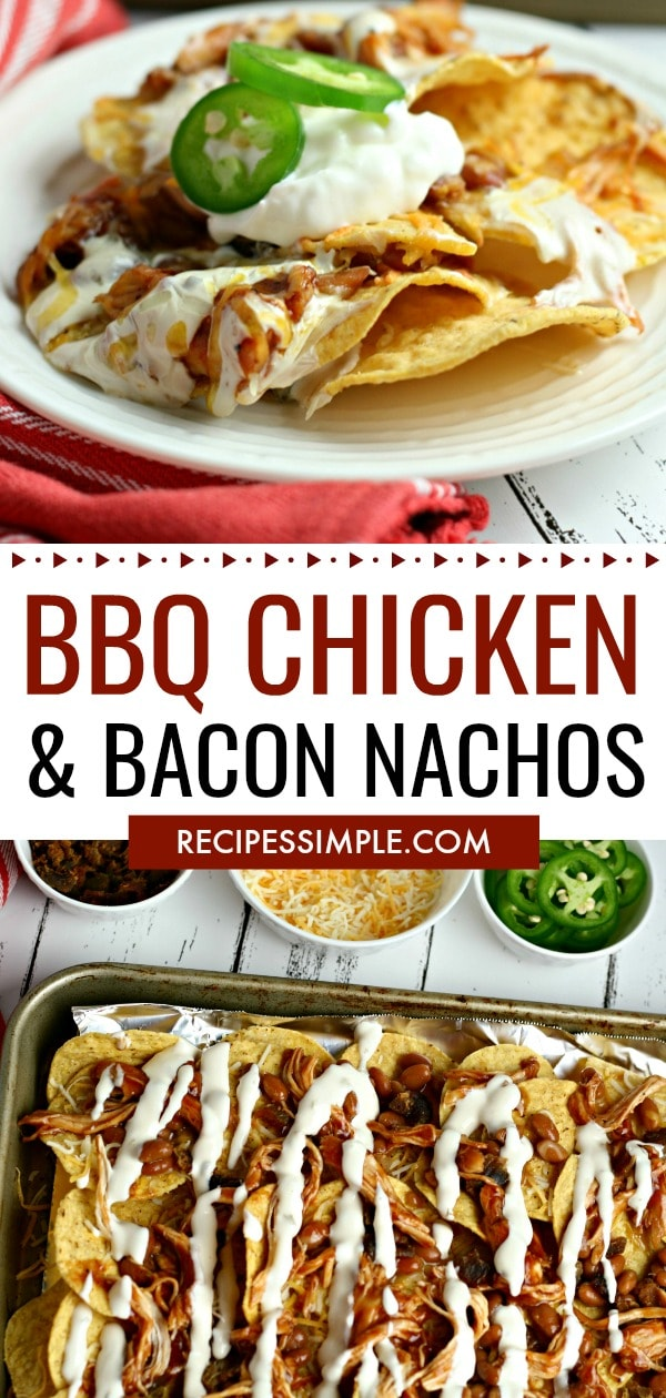 Bacon and BBQ Chicken Nachos