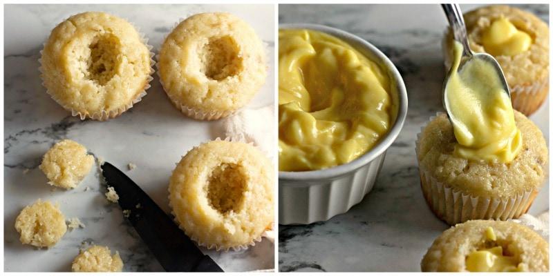 Banana Cupcakes Pudding Mixture