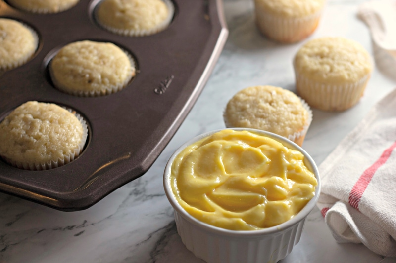 Banana Pudding Cupcakes Baked In Muffin Pan