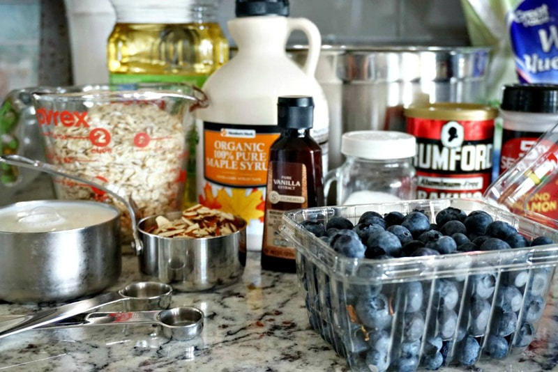 Blueberry Almond Oatmeal Cups Ingredients