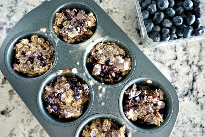 Blueberry Almond Oatmeal Cups Muffin Pan