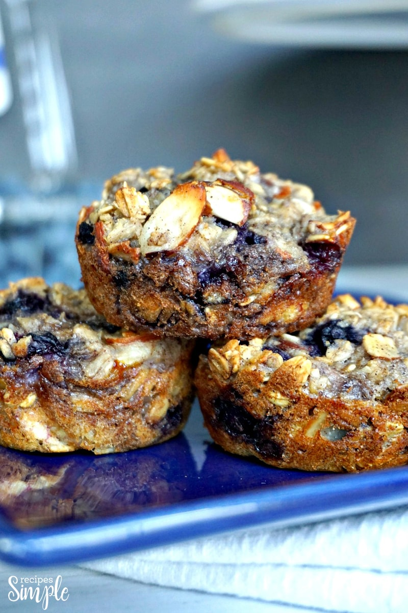 Blueberry Almond Oatmeal Cups