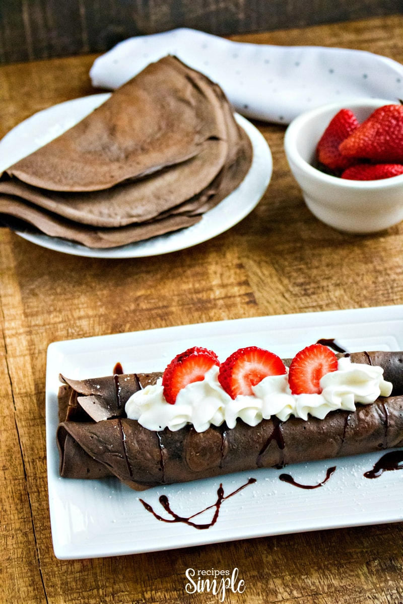 Chocolate Dessert Crepes Recipe