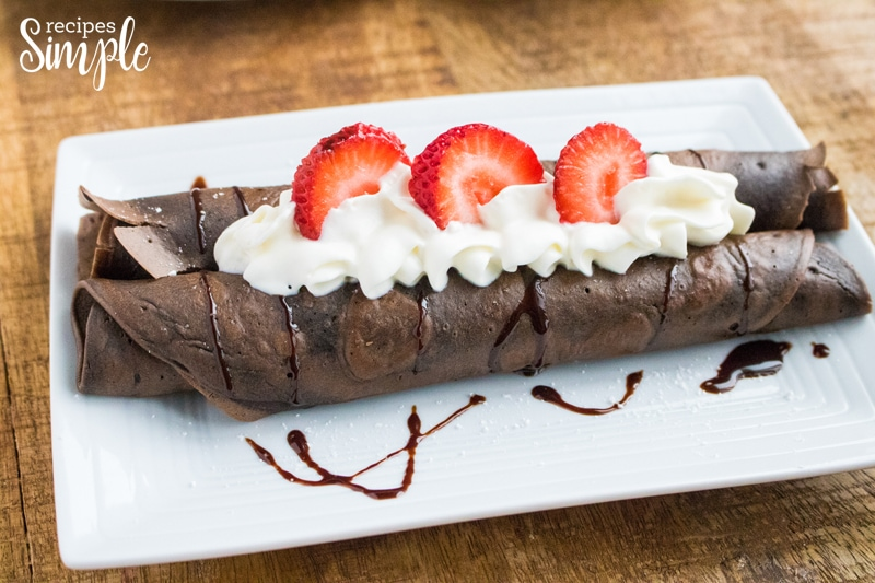 Chocolate Dessert Crepes