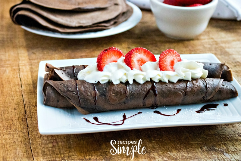 Easy Chocolate Crepe Recipe
