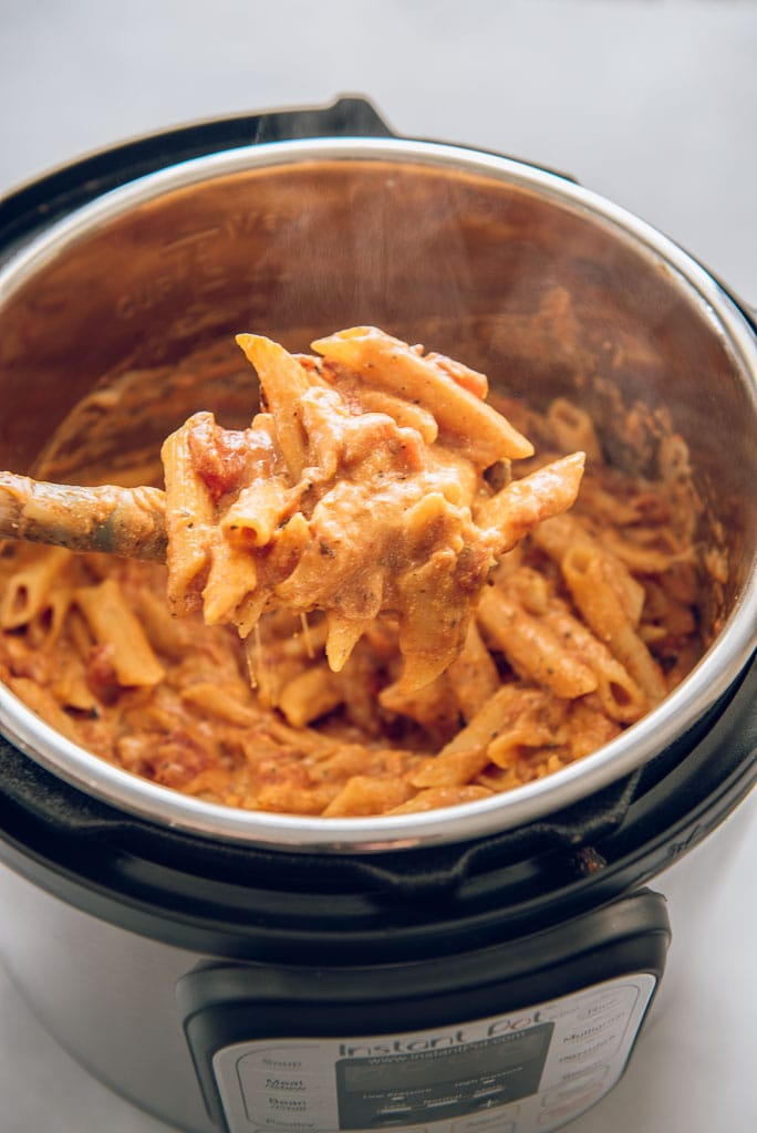 Instant Pot Five Cheese Ziti Cooked