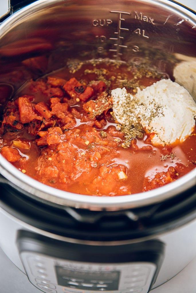 Instant Pot Five Cheese Ziti Ingredients