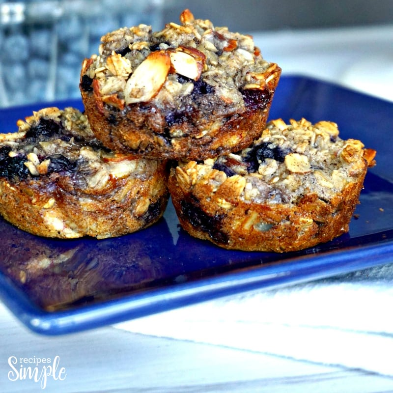 Oatmeal Blueberry Almond Cups