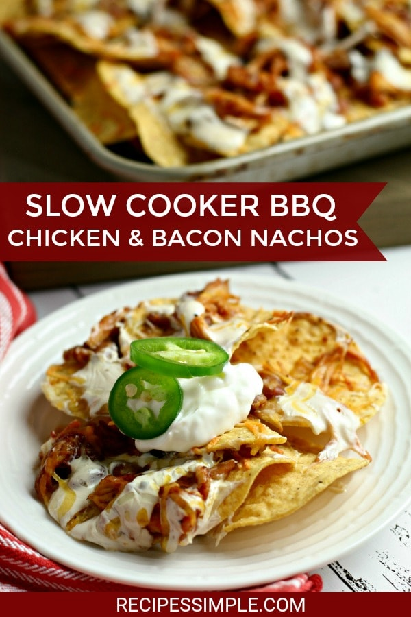 Slow Cooker BBQ Chicken And Bacon Nachos
