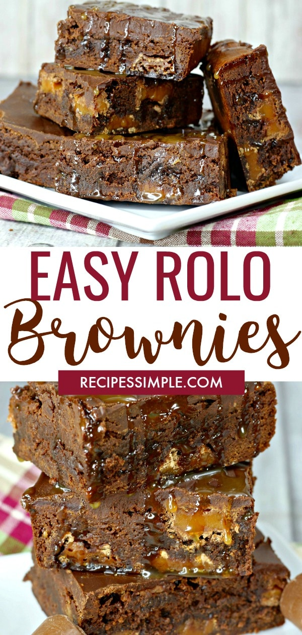 Easy Rolo Brownies Dessert