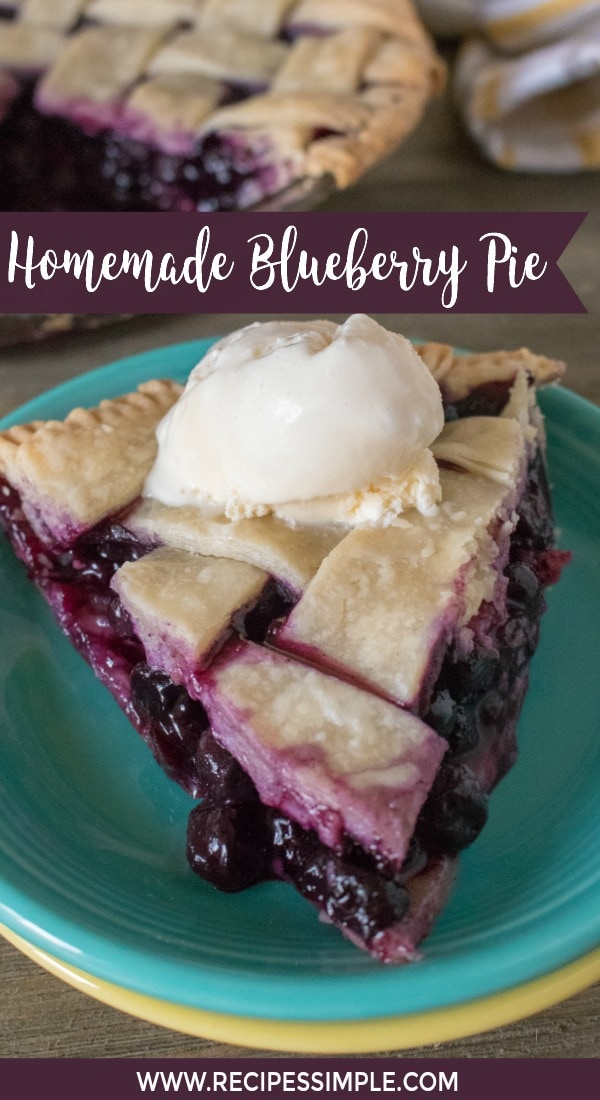 Homemade Blueberry Pie And Crust