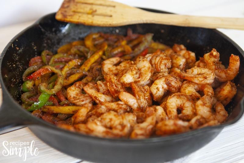 Shrimp Fajitas Skillet Recipe