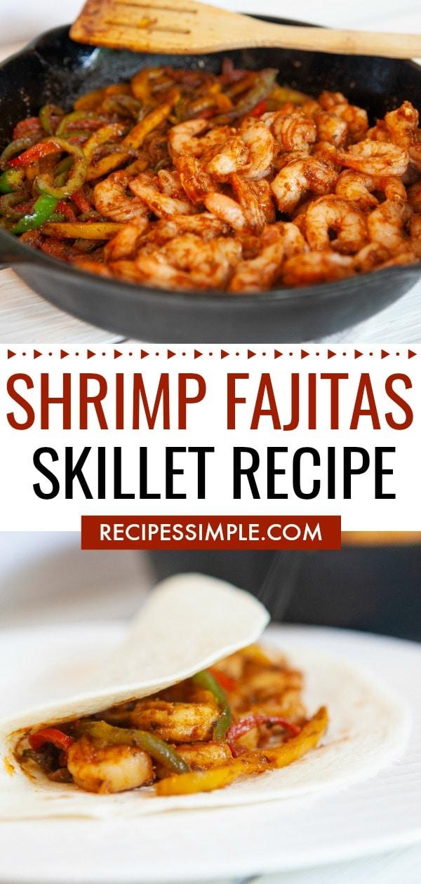 Shrimp Fajitas Skillet