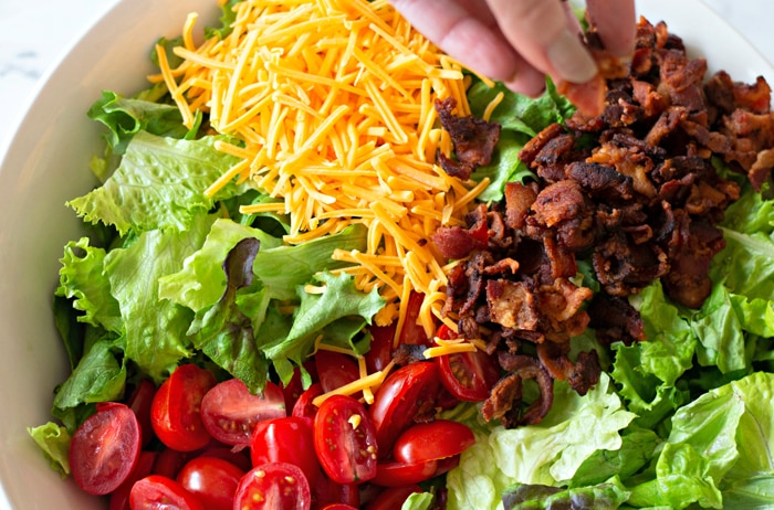 Bacon Added To Salad