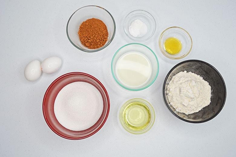 Chocolate Cupcakes Ingredients