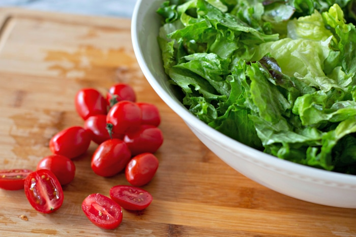 Chopped Tomatoes For BLT Salad