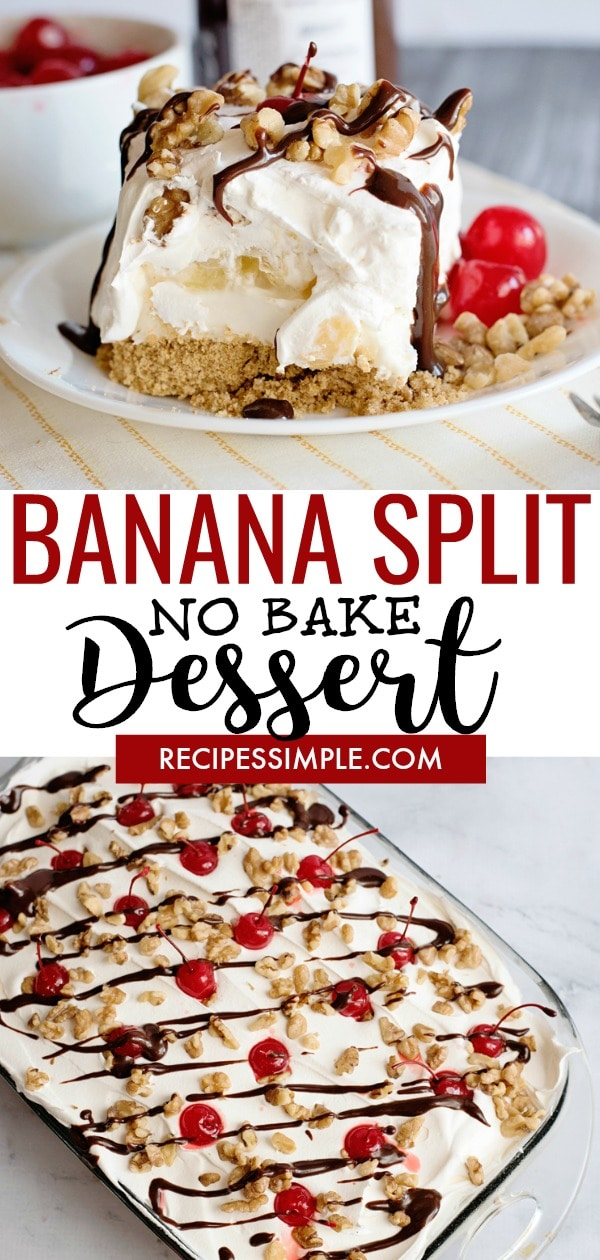 Easy No Bake Banana Split Dessert