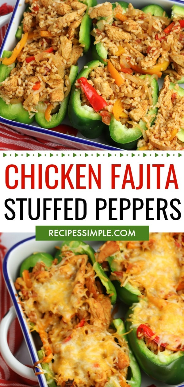 Stuffed Chicken Fajita Peppers Pin