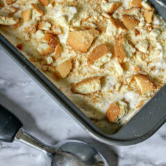Banana Pudding Ice Cream Frozen In Pan
