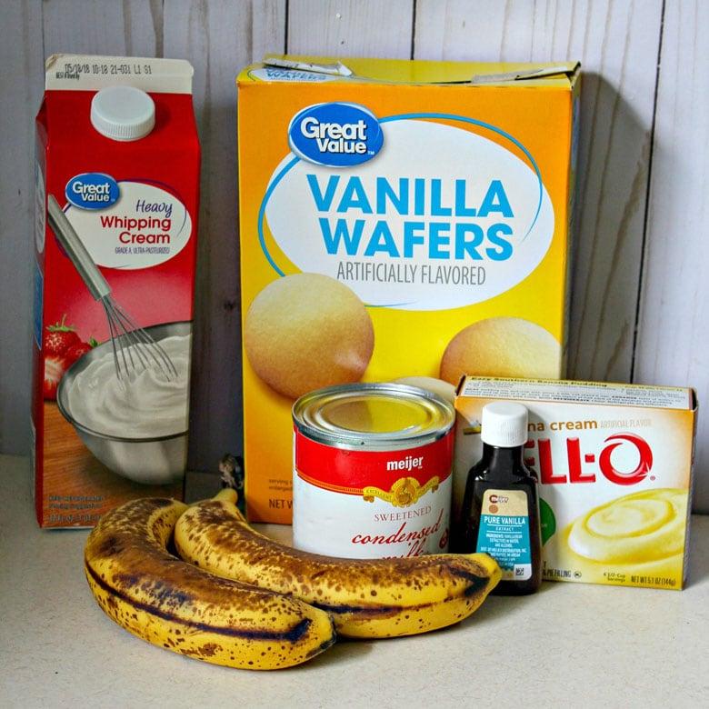 Banana Pudding Ice Cream Ingredients