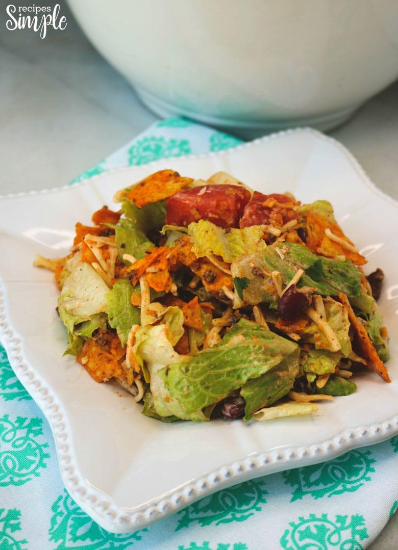 Dorito Taco Salad Plate