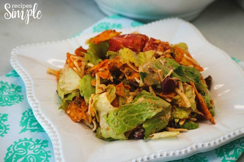 Doritos Taco Salad On Plate