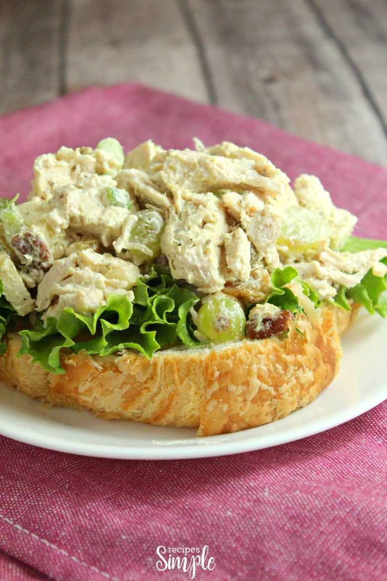 Chicken Curry Salad Plate