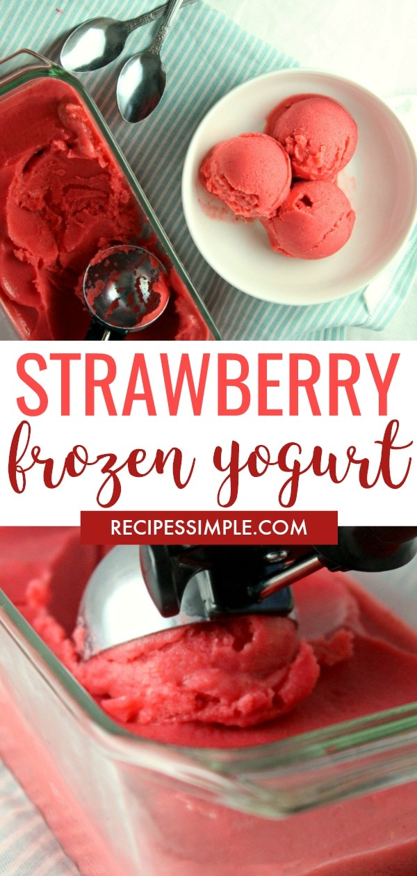 Frozen Strawberry Yogurt Recipe