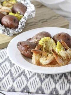 Grilled Shrimp And Veggie Foil Packets