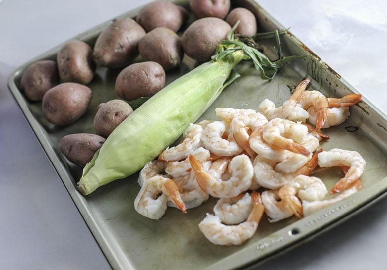 Grilled Shrimp Foil Packet Ingredients