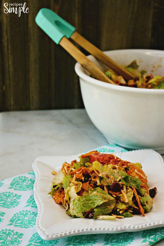 Taco Salad on Plate