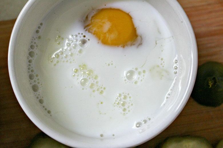 Dill Pickle Egg Wash In Bowl