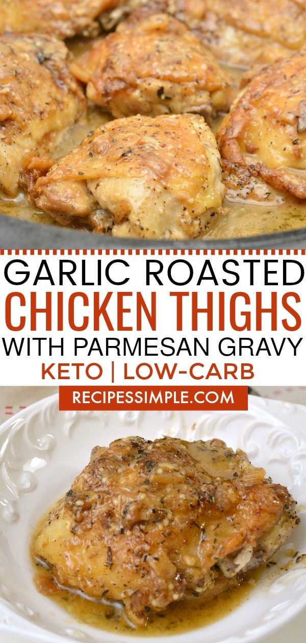Keto Chicken Thighs With Parmesan Gravy