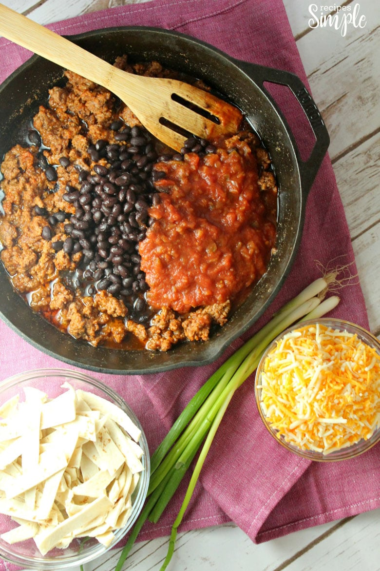 Beef Burrito Skillet Ingredients