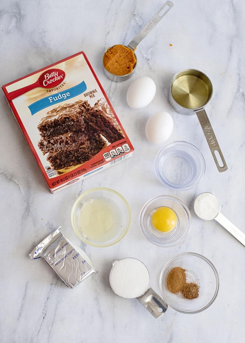 Chocolate Pumpkin Brownies Ingredients