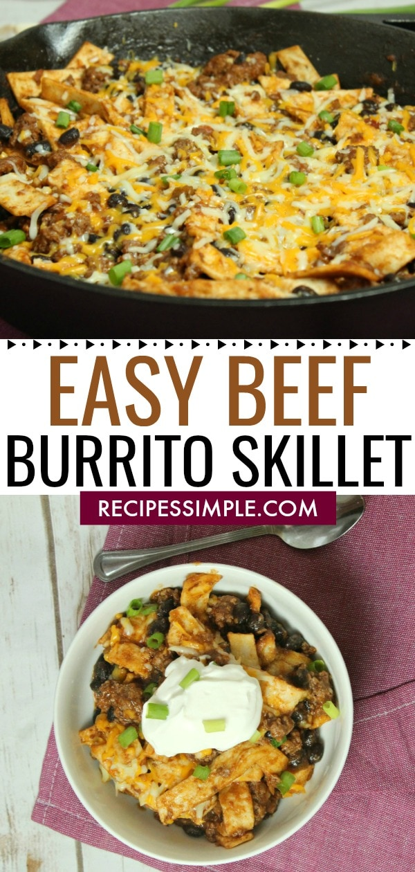 Easy Beef Burrito Skillet Recipe