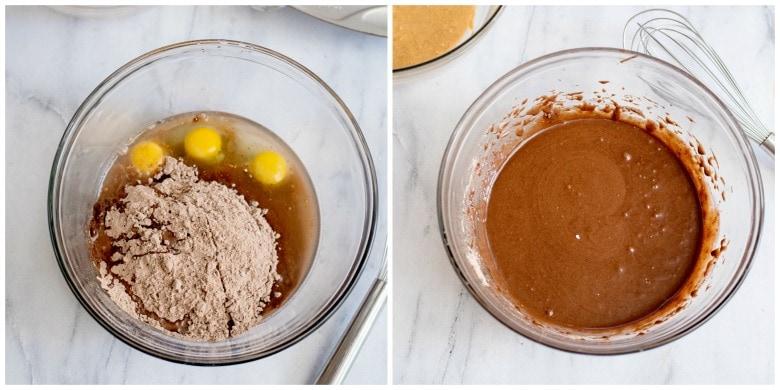 Mixing Brownies Ingredients