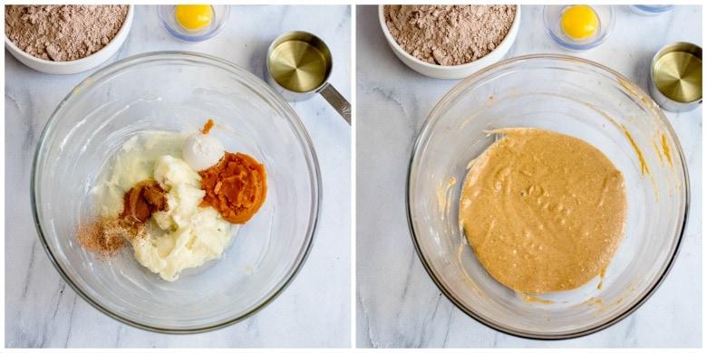Pumpkin Brownies Process step 1
