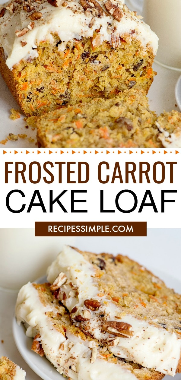 Best Frosted Carrot Cake Loaf