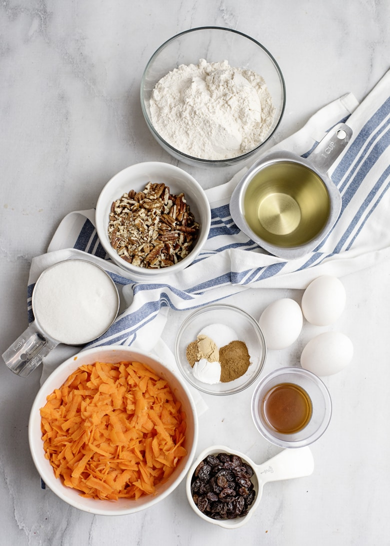 Carrot Cake Loaf Ingredients