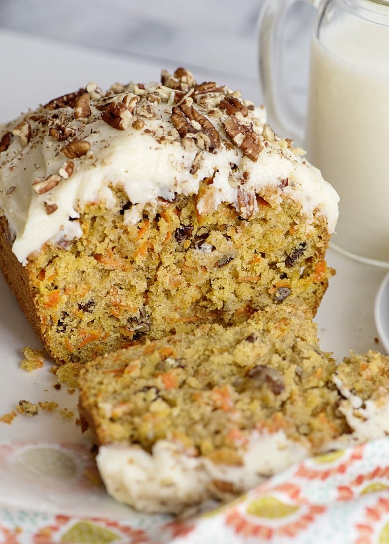 Frosted Carrot Cake Loaf