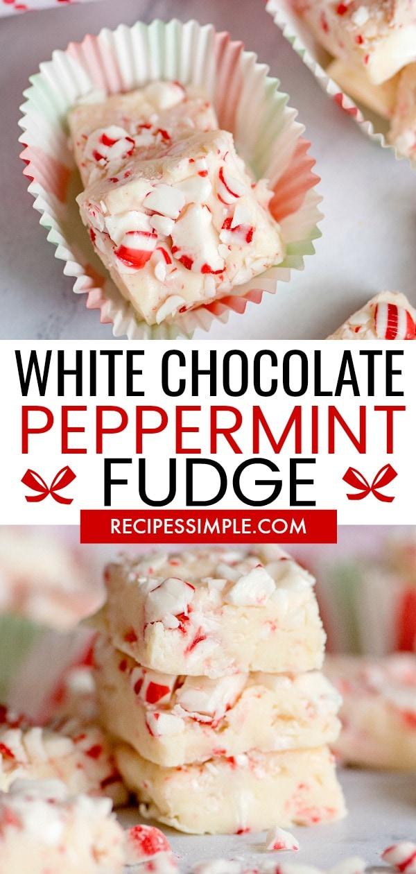 White Chocolate Peppermint Fudge Pin