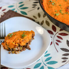 Sweet Potato Topped Shepherds Pie