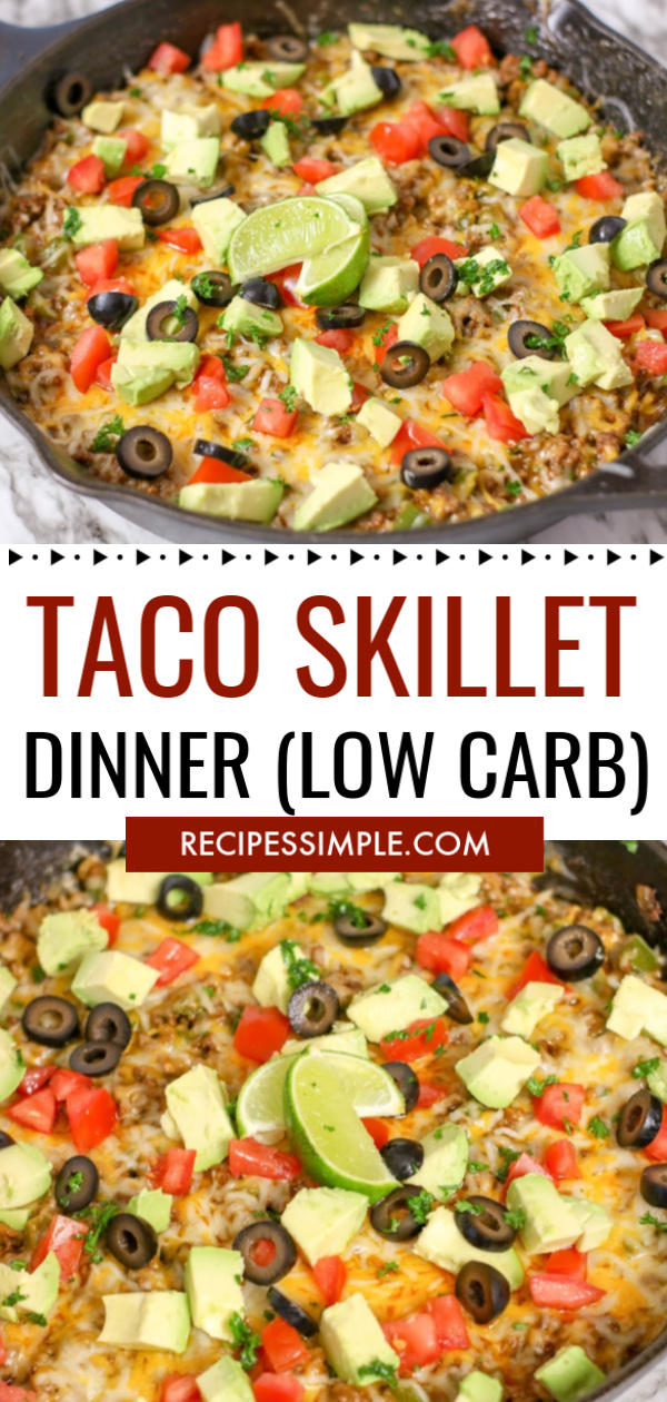 Taco Skillet Low Carb Recipe