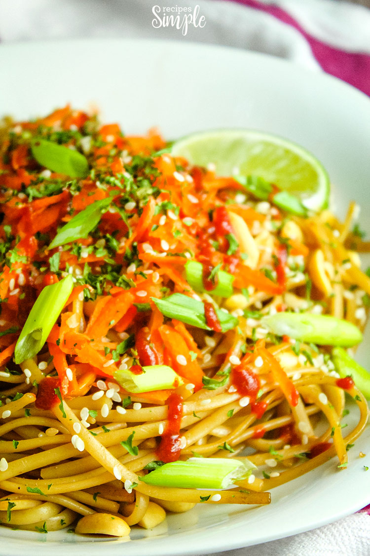 20 Minute Spicy Thai Noodles plate