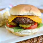Air Fryer Burgers on a plate