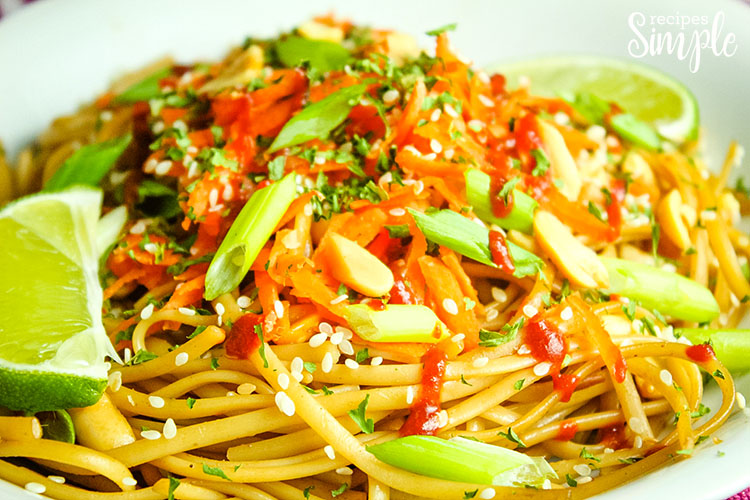 Easy Spicy Thai Noodles