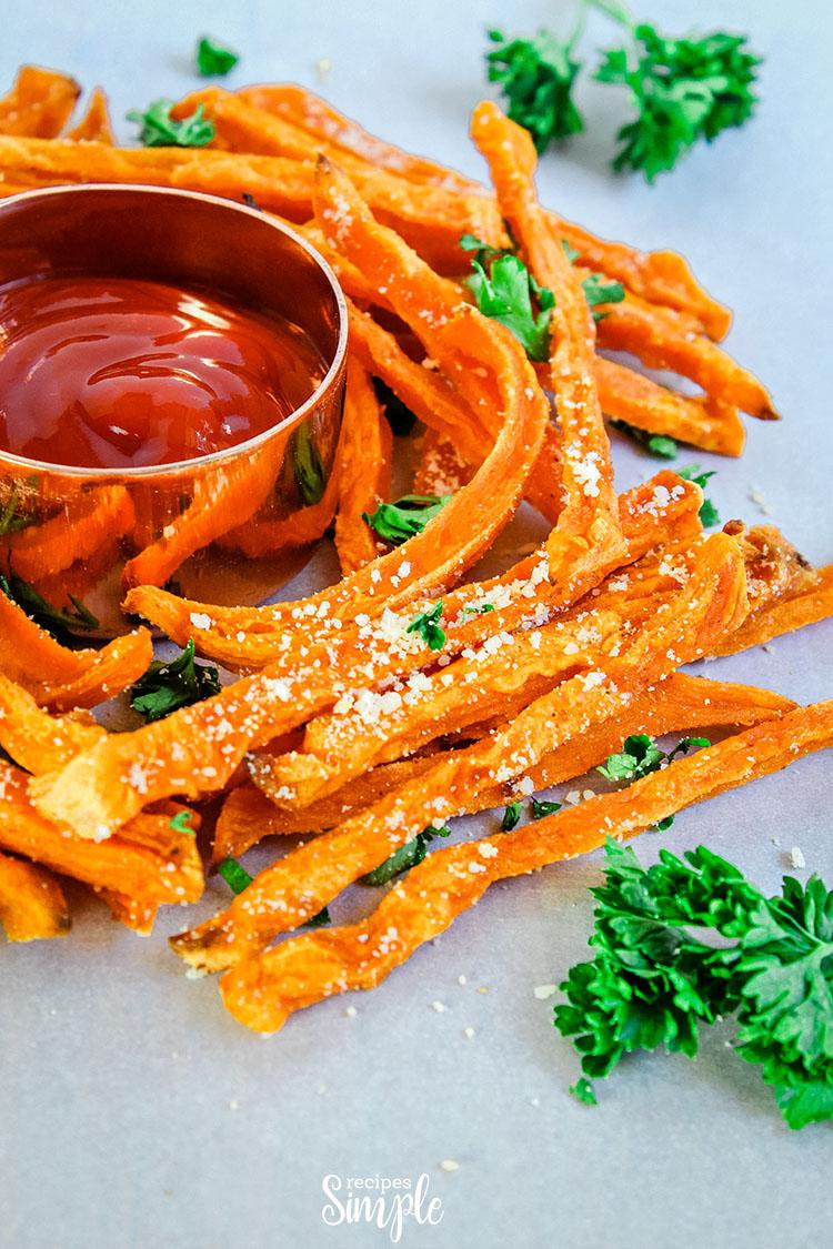 Parmesan Baked Sweet Potato Fries